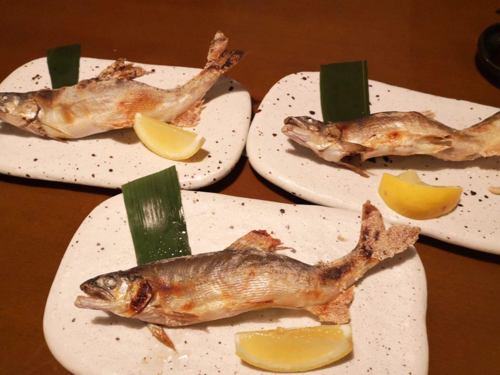 新橋「和海」鮎塩焼き画像