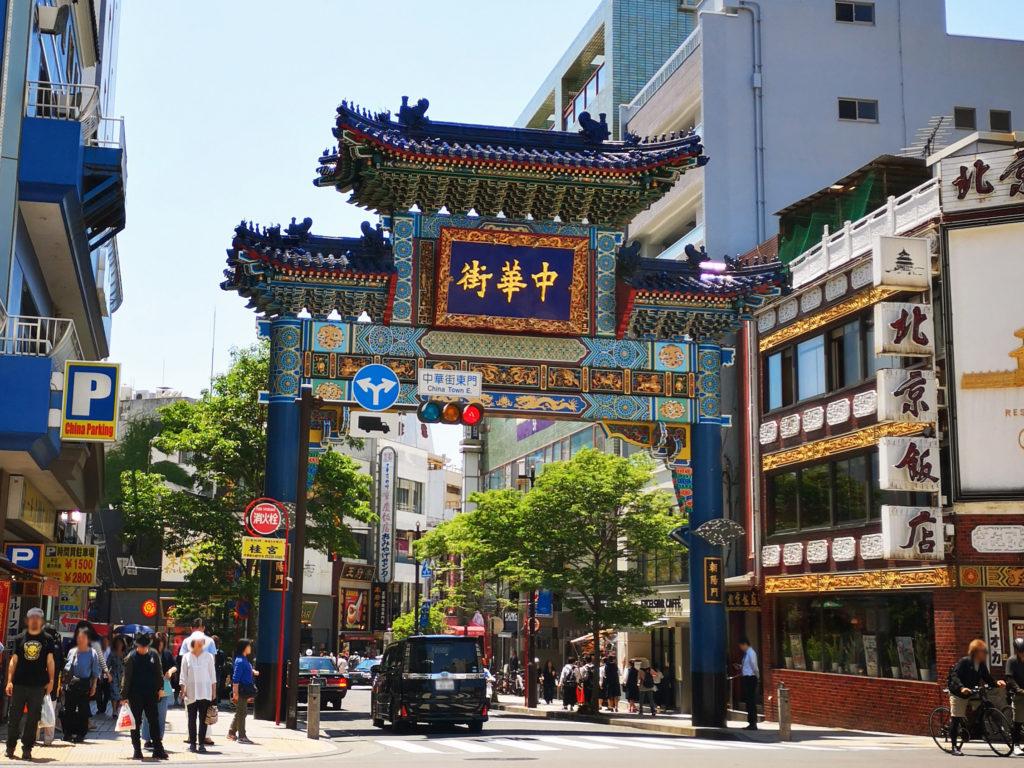 横浜中華街朝陽門画像