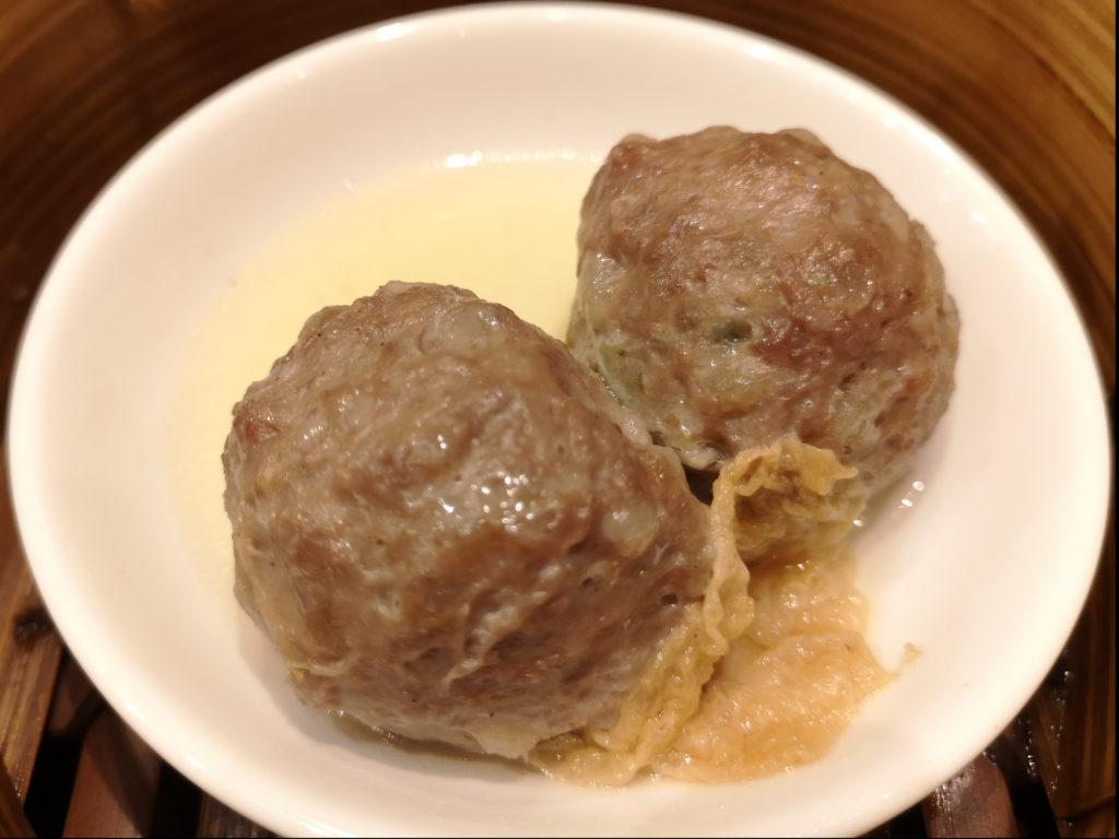 『招福門』牛肉の蒸し団子 湯葉添え