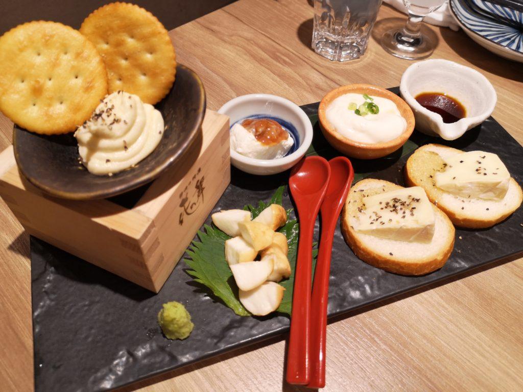 新橋『日本酒原価酒蔵2号店』チーズ盛り