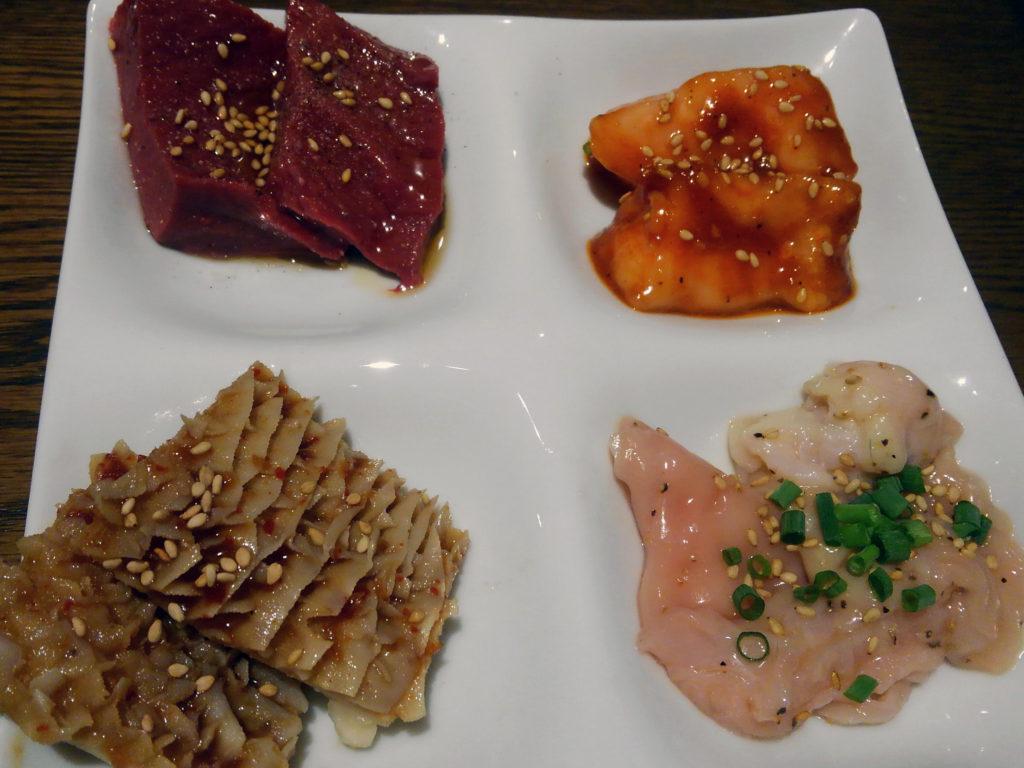 焼肉×バル『マルウシミート Z 西新橋店』ホルモン4種盛り