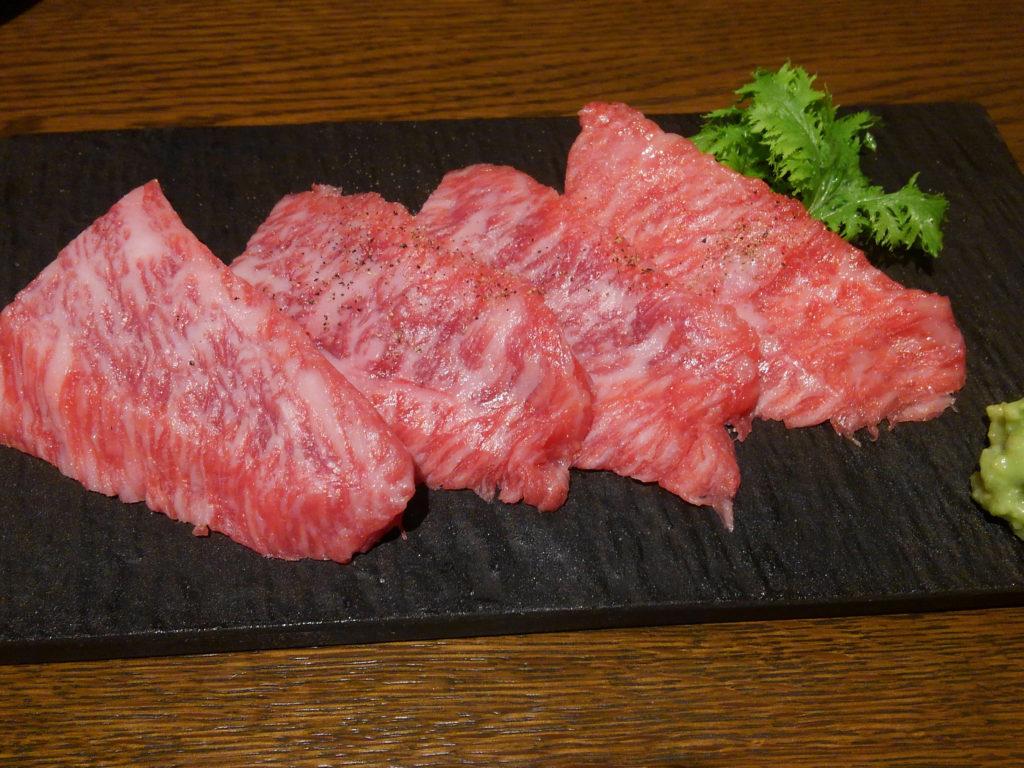 焼肉×バル『マルウシミート Z 西新橋店』お肉いろいろ