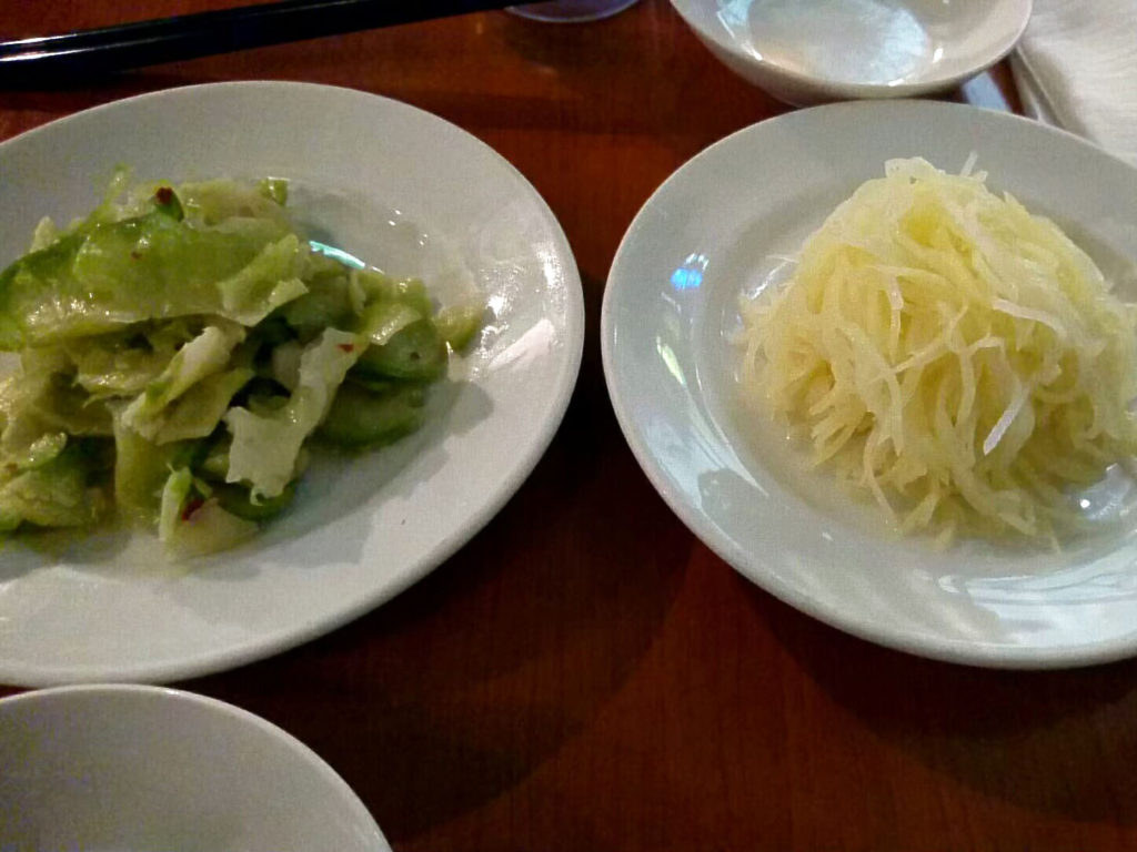 新橋『味満餃子』前菜