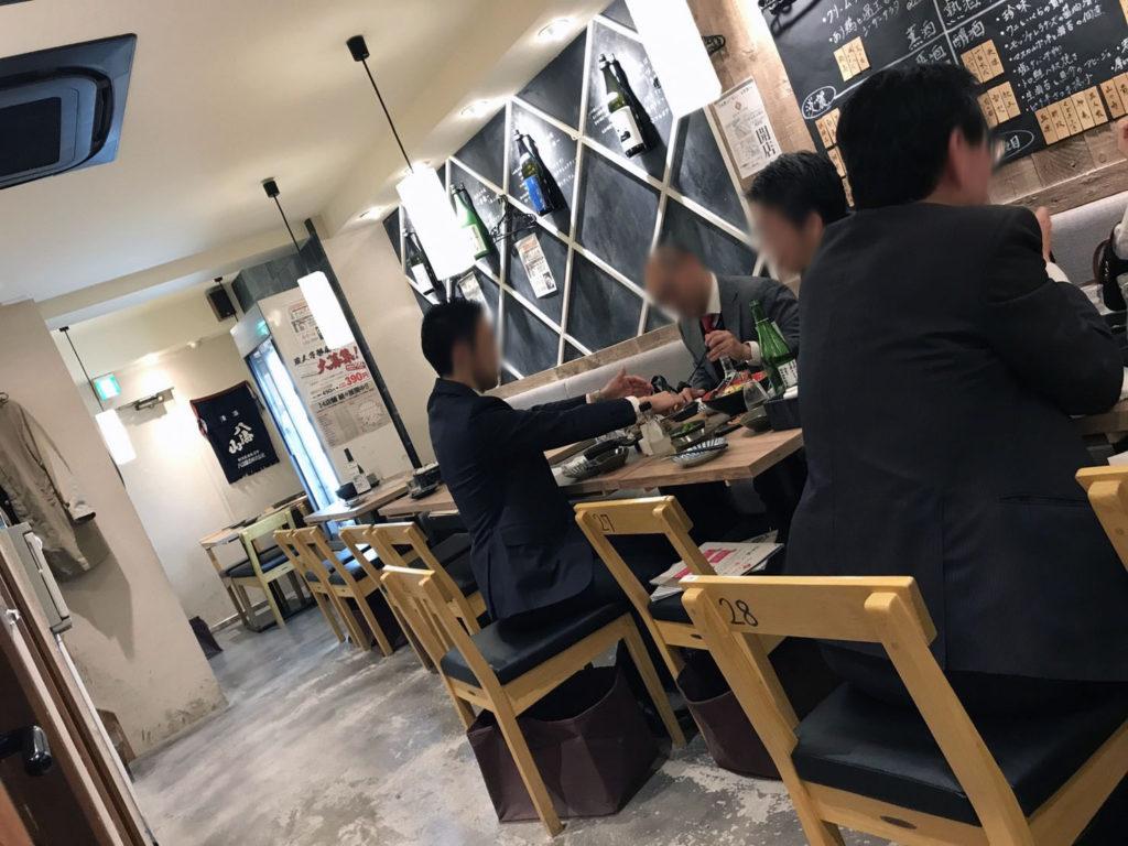 新橋『日本酒原価酒蔵2号店』店内